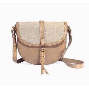 Stella & Dot Covet Sloane suede leather saddle bag